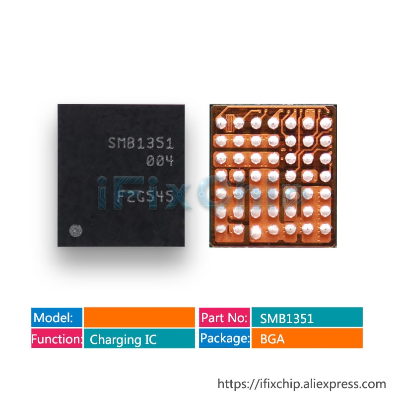 10 pçs/lote SMB1351 1351 Para Xiaomi Carregador de Carregamento USB IC chip 49 5 pinos