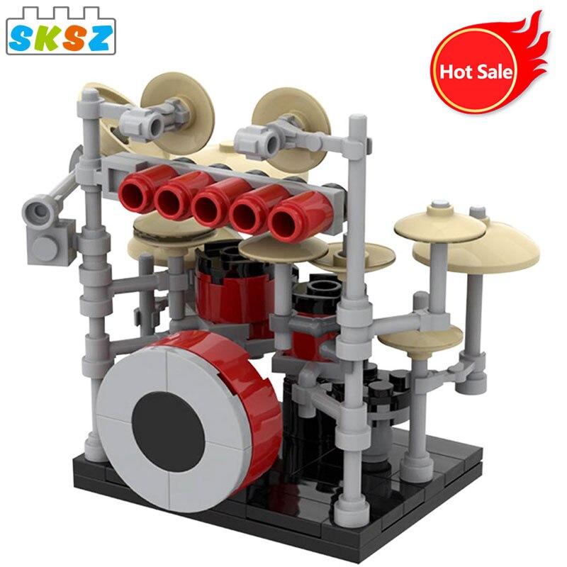 Детский подарок на Рождество, кирпичи для музыкальных инструментов, набор для сборки, барабанная модель, строительные блоки Moc, Детские Рожд...