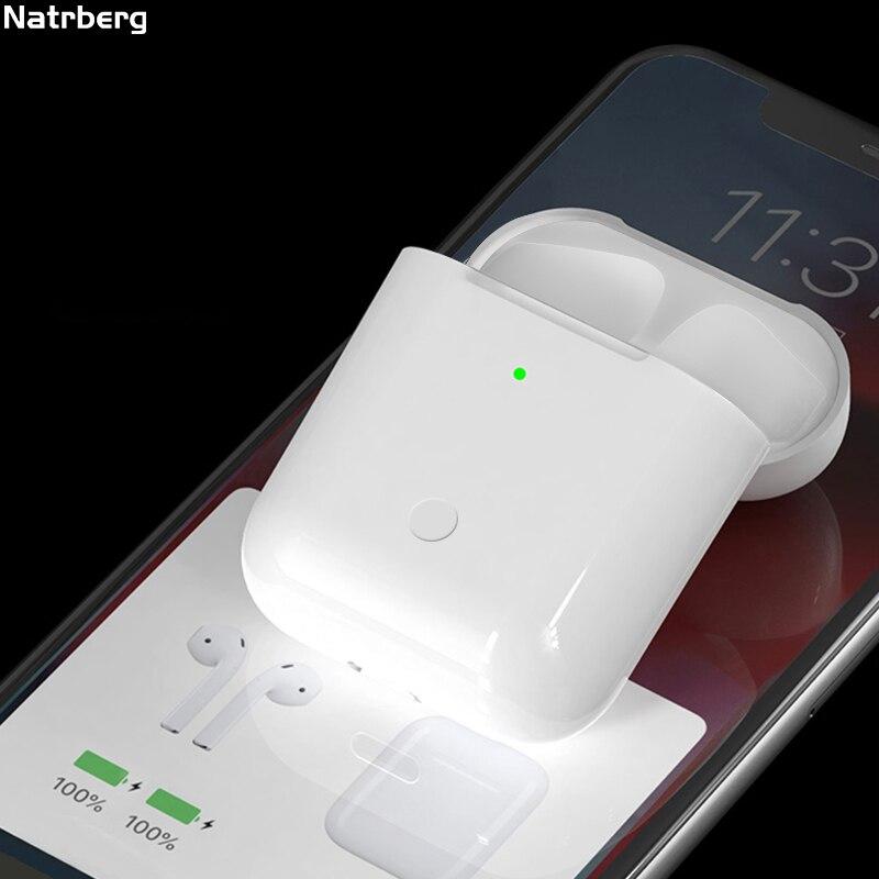 Зарядный чехол для Airpods, замена Qi, беспроводной, Bluetooth, 450 мА/ч, зарядка с сопряжением, всплывающее окно, для Airpods, Pod, 1, 2