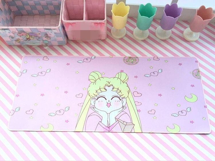 Sailor Moon Cat-REPRODUCTOR DE VIDEOJUEGOS, alfombrilla de ratón de goma para ordenador portátil, Captor de tarjetas de Anime, Sakura, alfombrillas para teclado