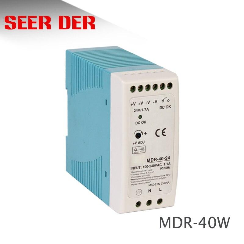 MDR-40W один выход din-рейка AC 220V до 12v DC 3.3A 40 W/24 V 1.5A импульсный источник питания