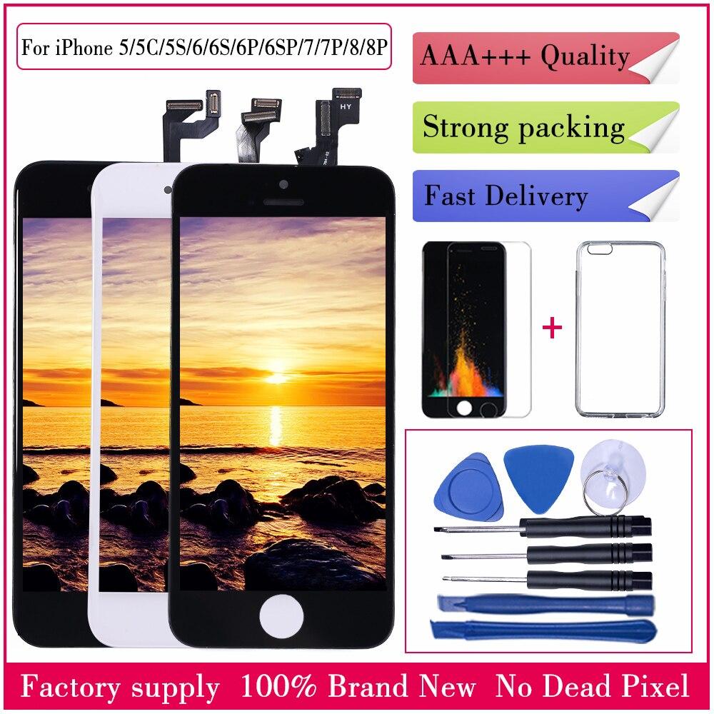 Pantalla LCD AAA + + para iPhone 6 6S 7 8 X pantalla táctil reemplazo digitalizador LCD para iPhone X 5S 5C SE 6 7 8 plus