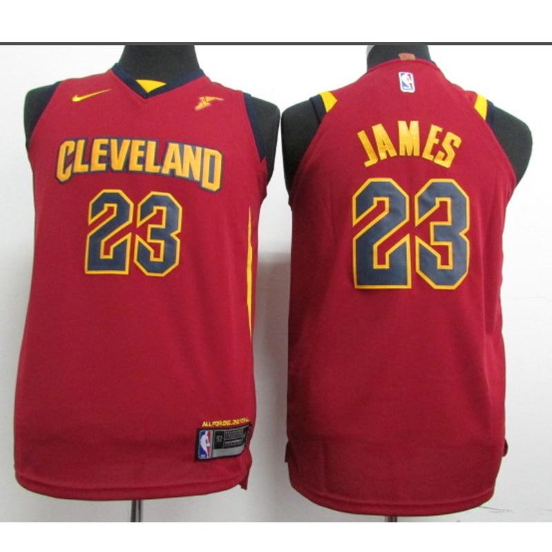 La NBA de la juventud de los Cleveland Cavaliers 23 James baloncesto...