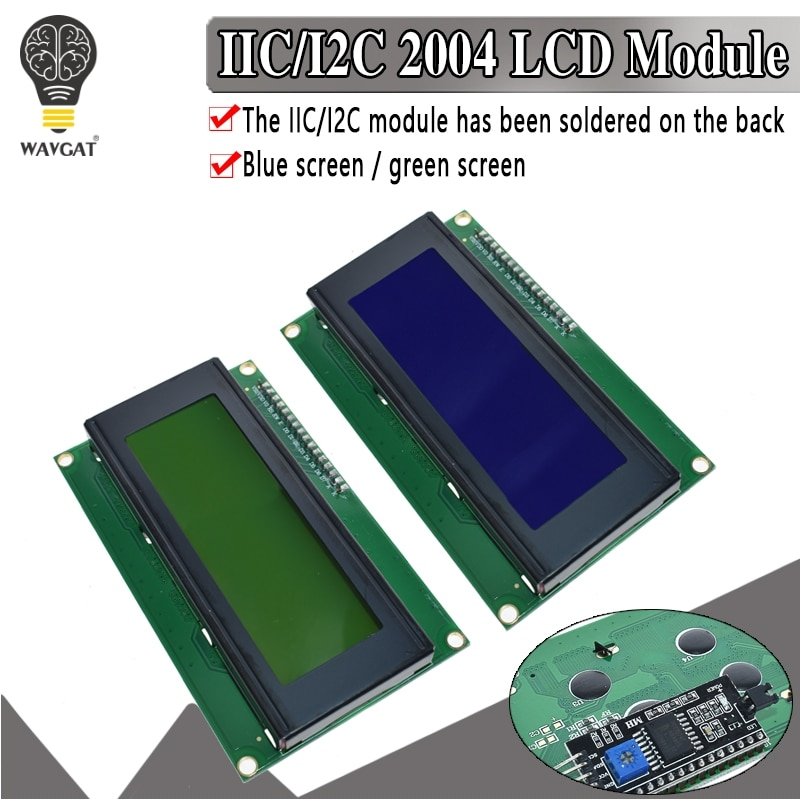 IIC/I2C/TWI 2004 Serial Blue Green Backlight LCD Module for Arduino UNO R3 MEGA2560 20 X 4 LCD2004