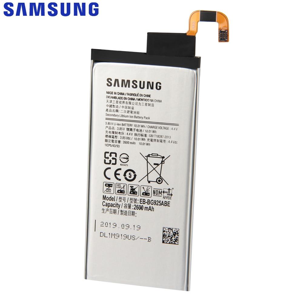 Original Samsung Battery For Galaxy S6 Edge G9250 G925K G925S G925FQ G925F G925L S6Edge G925V G925A EB-BG925ABA 2600mAh enlarge