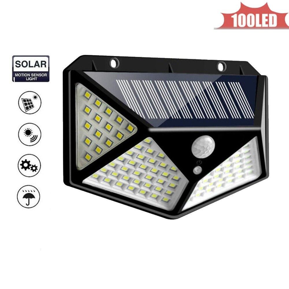 Solar Lights Outdoor 100 LED Super Bright Solar Lamp Motion Sensor Security Lights Wireless Waterproof Flexible Wall Lights 4 si