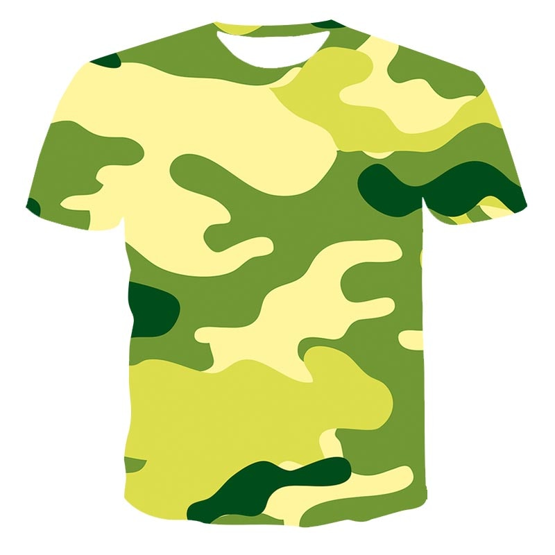 Men Clothing camouflage 3D T shirt Men Streetwear Short Sleeve Tees Tops Beautiful Male Clothes Casual  3D Print T Shirts