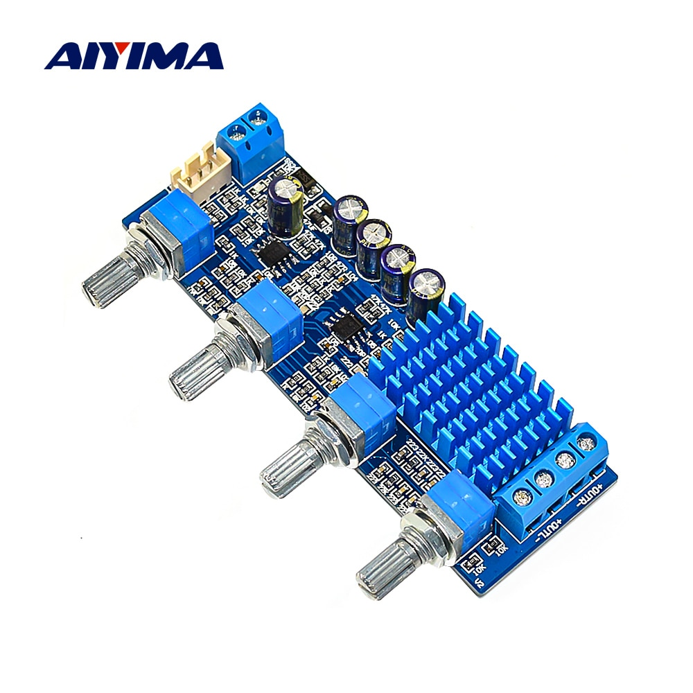 AIYIMA TPA3116 amplificador de dos canales de alta fidelidad para el hogar 30Wx2 amplificador de sonido Digital de doble Op Amp graves agudos con Control de tono