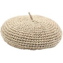ASDS-جديد الموضة قبعة قابل للتعديل القش قبعة الإناث قبعة من القش الرجعية الأدبية بلون الرسام قبعة