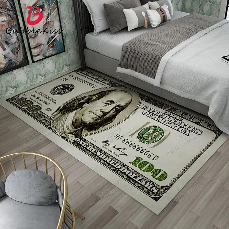 فقاعة قبلة النمط الأمريكي الدولار نمط السجاد لغرفة المعيشة المنزل موضة عدم الانزلاق منطقة السجاد لغرفة النوم لينة السرير حصيرة