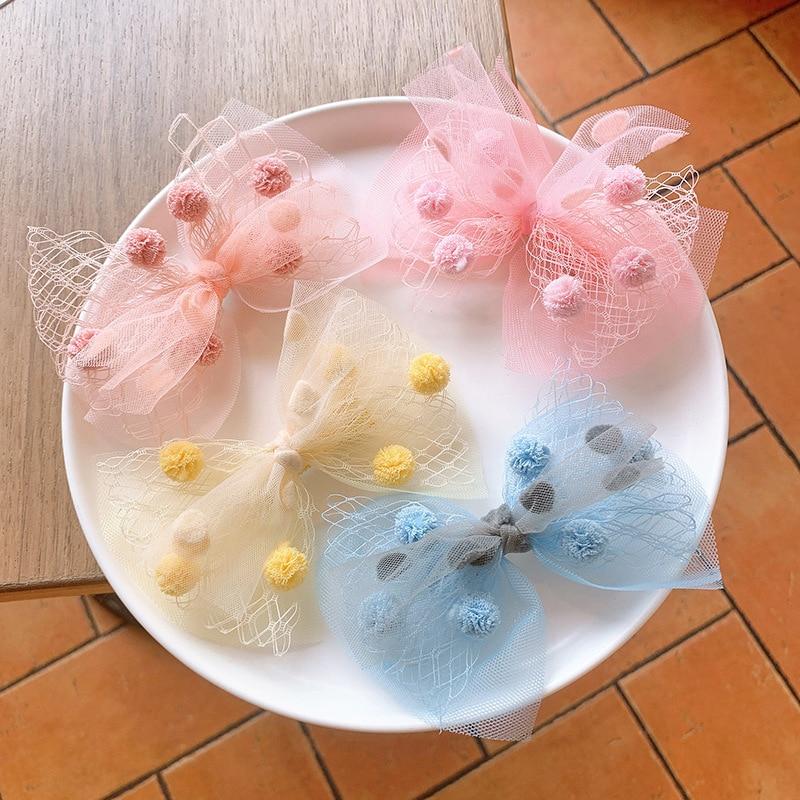 Банты для волос с зажимом для милых девочек, цветные заколки для волос, аксессуары для волос для детей, подарки