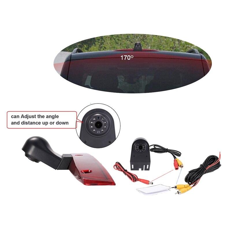 Estacionamento do carro 18mm lente luz de freio invertendo câmera visão traseira câmera à prova dwaterproof água para mercedes-benz vito viano w639 2003 ~ 2014