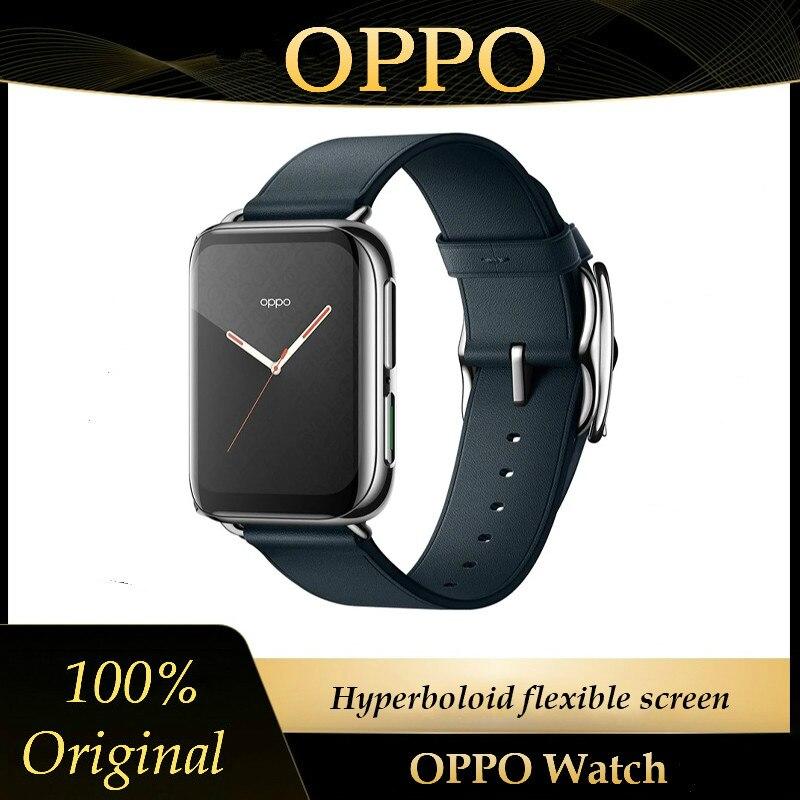 2020 original oppo relógio inteligente 5atm 46mm 1.91 polegada amoled 1gb 8gb snapdragon 2500 bluetooth wifi esporte saúde freqüência cardíaca sono