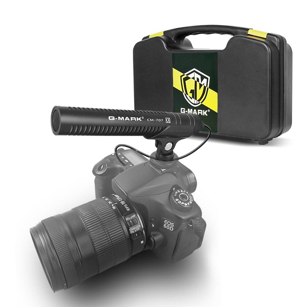 G-MARK CM707 caméra microphone DSLR tir pistolet Smartphone streaming microphone pour Canon Sony Nikon caméscope téléphone PC