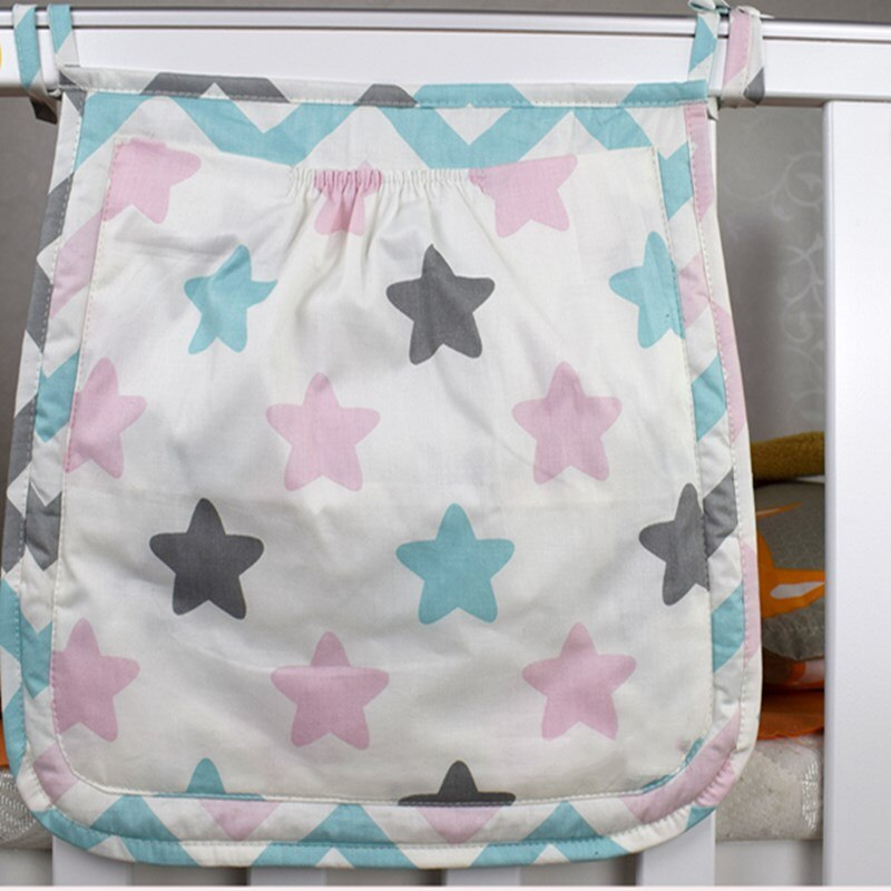 30*30 cm cuna bolsa de almacenamiento bebé de juguetes pañal organizador de Bolsillo grande para bebé juego de ropa de cuna Accesorios