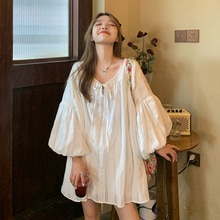 White Shirt Dress Women's Clothing Spring Autumn 2021 New French First Love Small Design Sense Baby