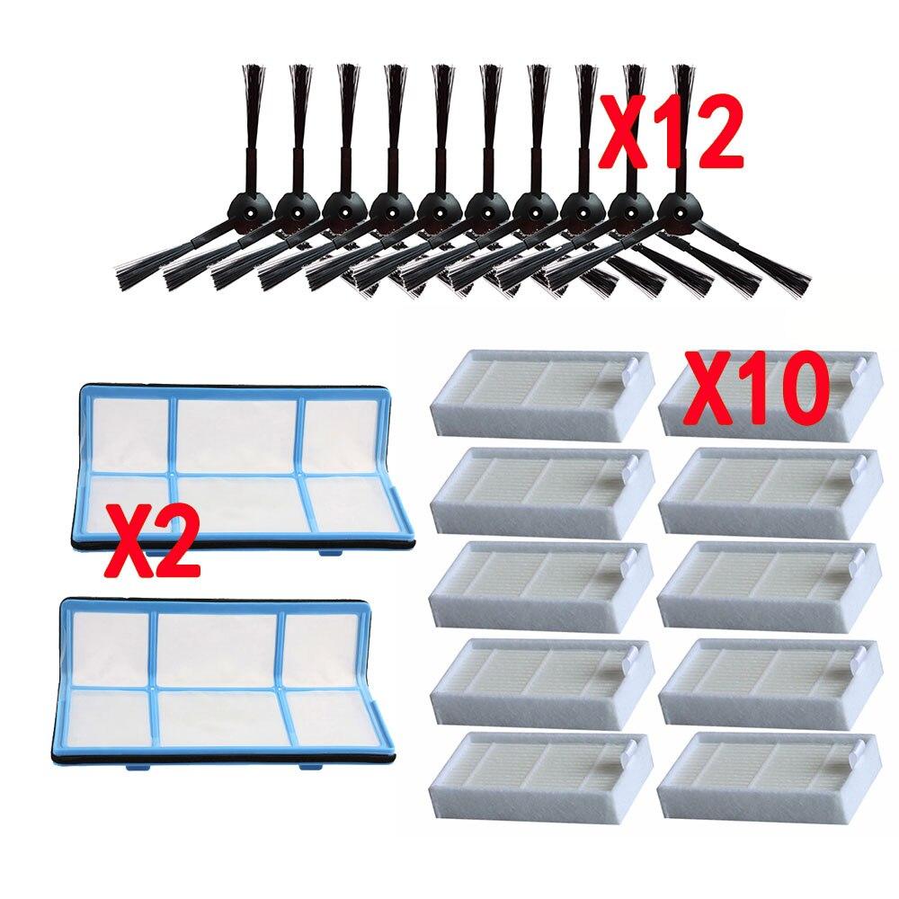 Filtro Cepillo Lateral polvo primario, filtro Hepa eficiente para ilife v5 v5s V3 V3s v5pro V50 V55 x5 v5s pro, piezas de robot aspirador