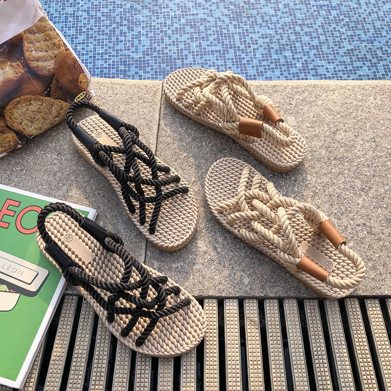 2021 Sandals Woman Shoes Braided Rope with Traditional Casual Style and Simple Creativity Fashion Sa