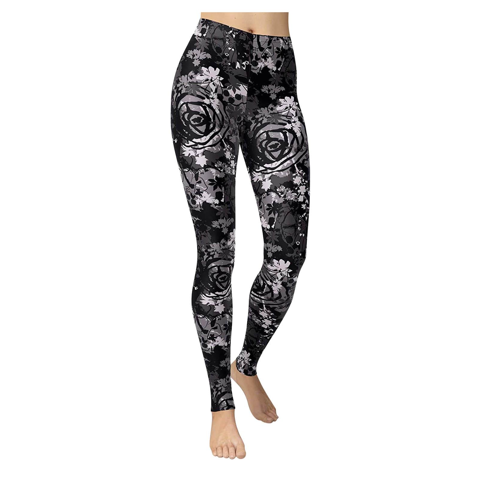 Leggings ajustados para correr para mujer, pantalones elásticos de cintura alta, estampados, sexy, 2021