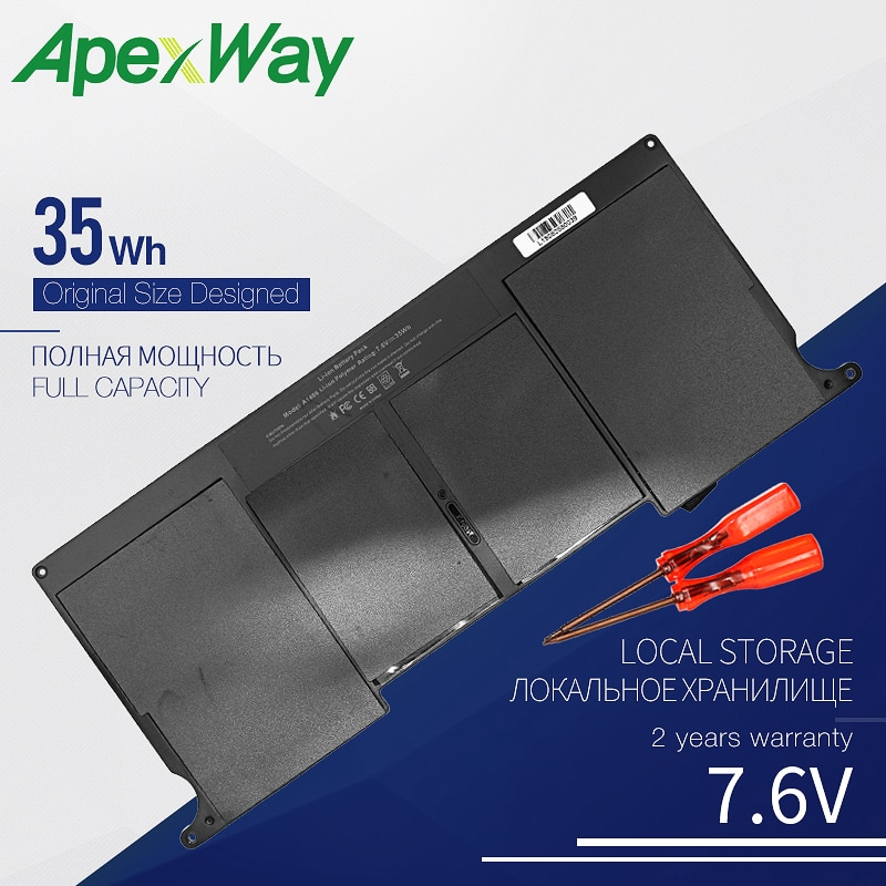 "35Wh Аккумулятор для ноутбука Apple A1406 MacBook Air 11 ""A1465 A1370 (2011 производство)"
