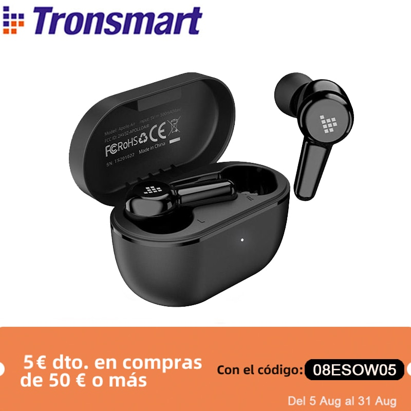 Promo Tronsmart Apollo Air Wireless Earphones Active Noise Cancelling Headphones Bluetooth 5.2 Earbuds with aptX, QualcommChip