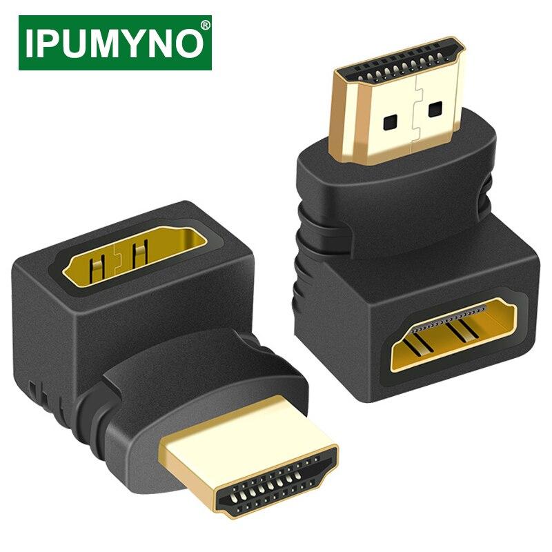 HDMI-совместимый адаптер сплиттер «Папа-мама» 90 270 градусов правый левый конвертер удлинитель для PS4 проектор Ноутбук с HDTV монитор