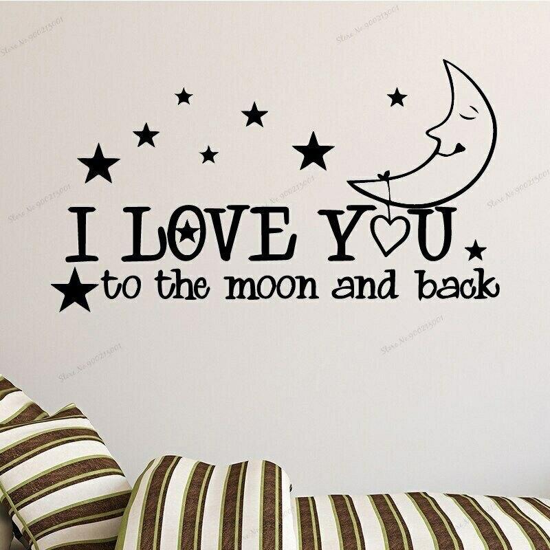 赤ちゃん引用私は愛が月とバックウォールステッカーキッズルーム装飾アクセサリー保育園インテリア WU210