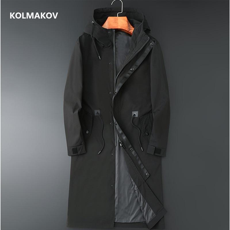 2021 جديد وصول معطف طويل نمط الربيع جاكيتات الرجال جودة عالية خندق معطف الرجال ، الخريف الرجال الموضة سترات واقية من الرياح M-8XL
