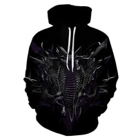 2021 japanese animation autumn men loose fashion retro seven dragon animation hoodie loose thin handsome primary and middle scho