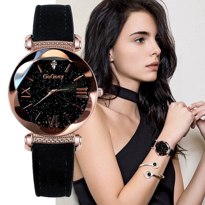Relojes de lujo para Mujer Gogoey 2020, relojes con cielo estrellado para Mujer, relojes a la moda para Mujer bayan kol saati Diamond Reloj 2020