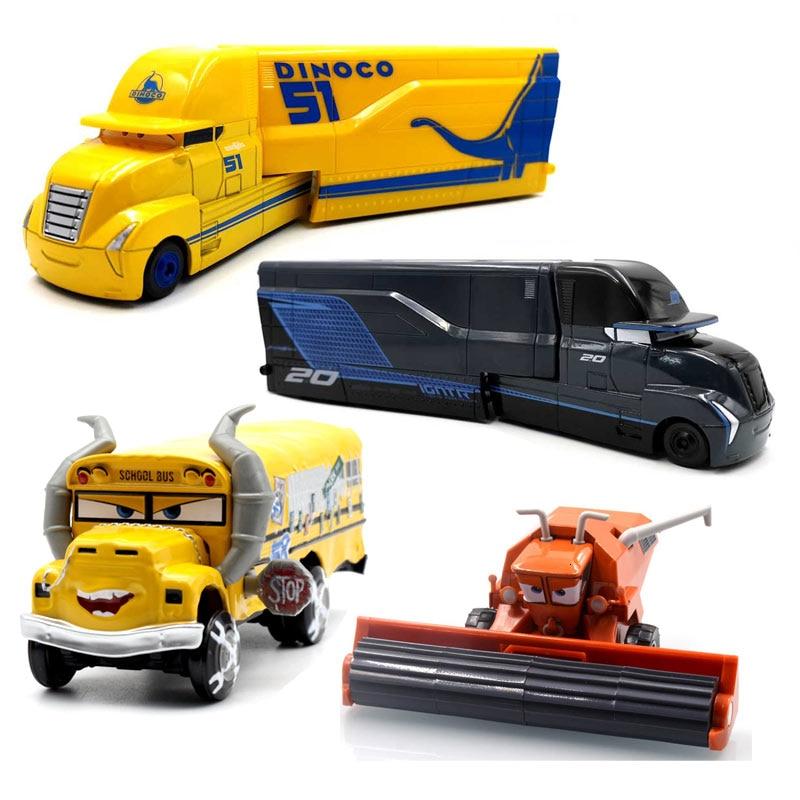 Машинки «Тачки 2 3» Disney, игрушки Молния Маккуин, Джексон шторм, Мак, дядя грузовик, литая модель автомобиля, для детей, рождественские подарки,...