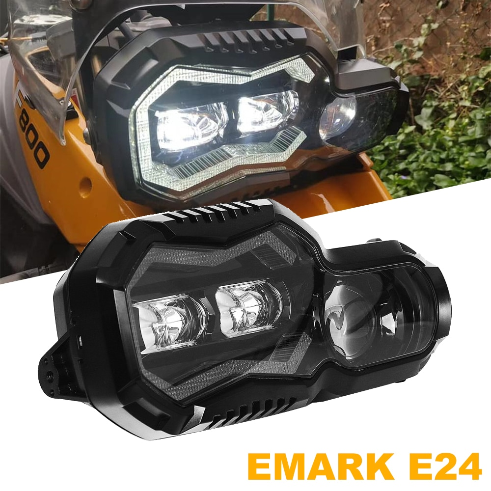 Emark E24 الموافقة مجموعة مصابيح أمامية ل BMW F 650 700 800 GS ADV f800gs مغامرة 2008-2018 F800R جهاز عرض (بروجكتور) ليد العلوي