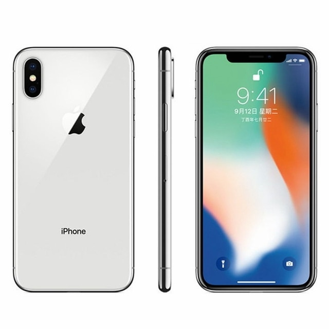 "Original iOS Apple iPhone X A11 3GB RAM 64GB/256GB ROM Hexa Core 5.8"" 12MP Dual Back Camera Face ID 4G LTE Unlocked Mobile Phone 4"
