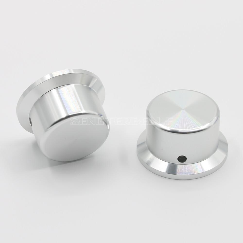 Potenciómetro de volumen de Pomo de aluminio, diámetro 44mm, alto 25mm, perilla amplificadora de Audio en Color dorado, plateado y negro opcional