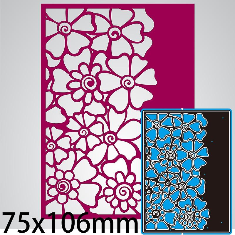 Cutting Dies Flower Openwork Pattern Greeting Card Lace  DIY Scrap Booking Photo Album Embossing Paper Cards 75*106mm