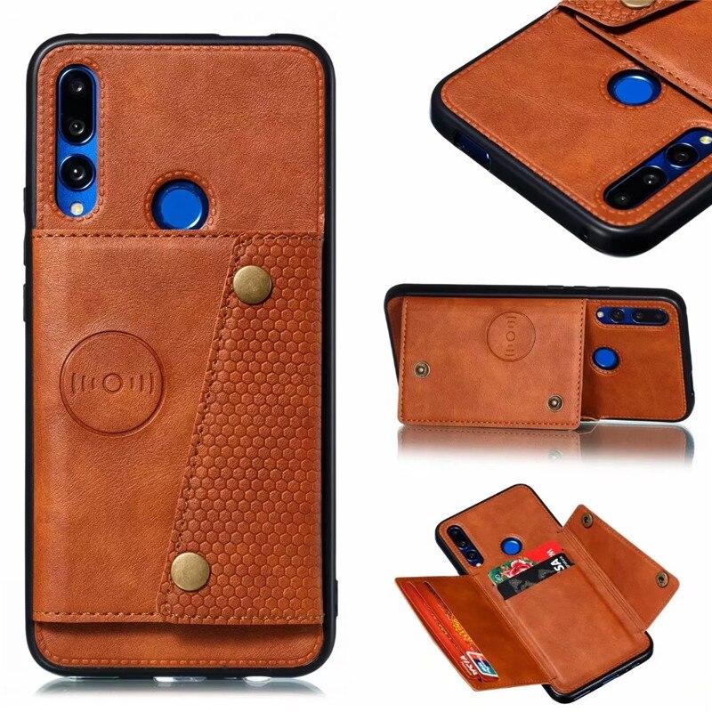 Para Huawei Y9 primer 2019 de lujo Retro de cuero de la PU funda Mate 20 30 P30 Pro P20 Lite de tarjeta titular de la cartera cubierta Capa