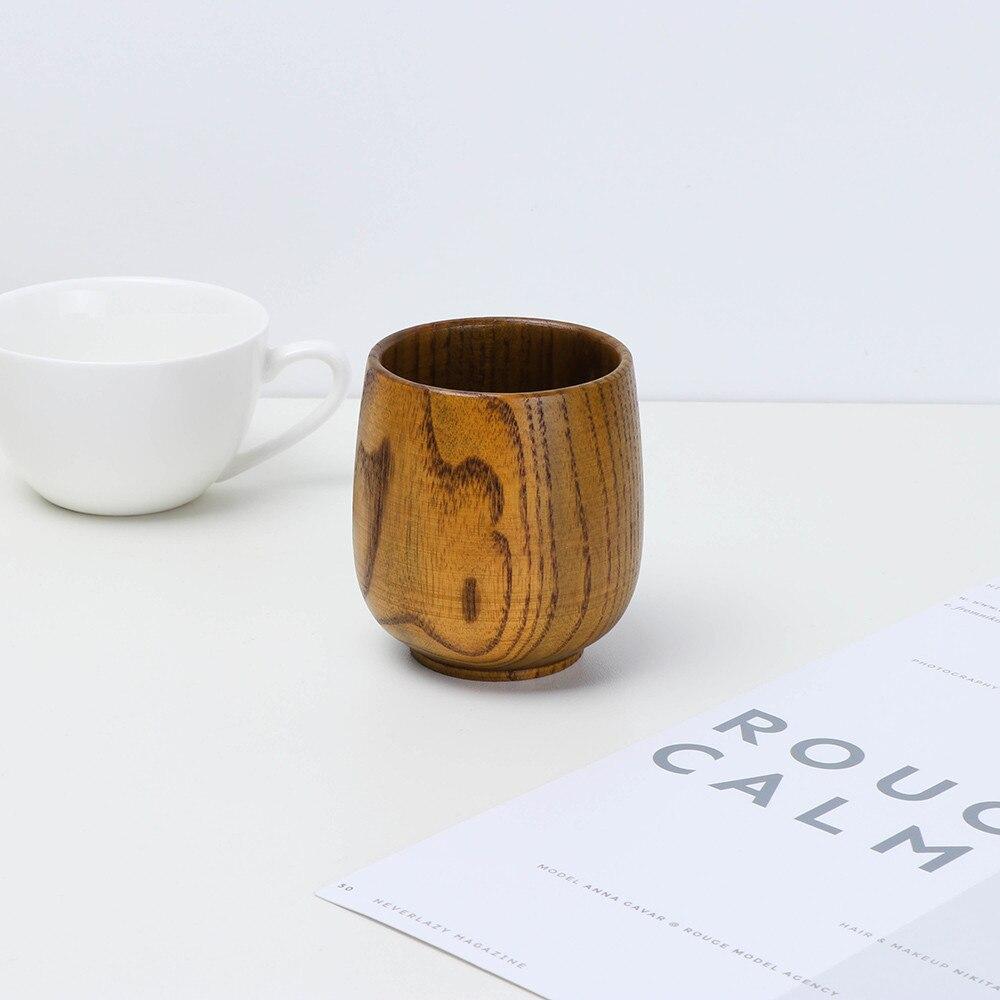Tazas de madera para café, taza de madera Natural hecha a mano,...