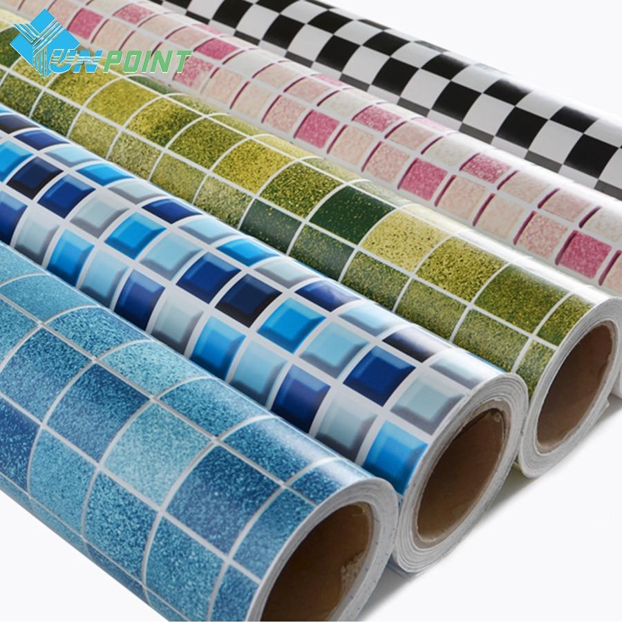 ملصق حائط PVC مقاوم للماء ذاتي اللصق ، بلاط فسيفساء للحمام ، حوض السباحة ، مقاوم للزيت ، لتزيين المنزل ، DIY