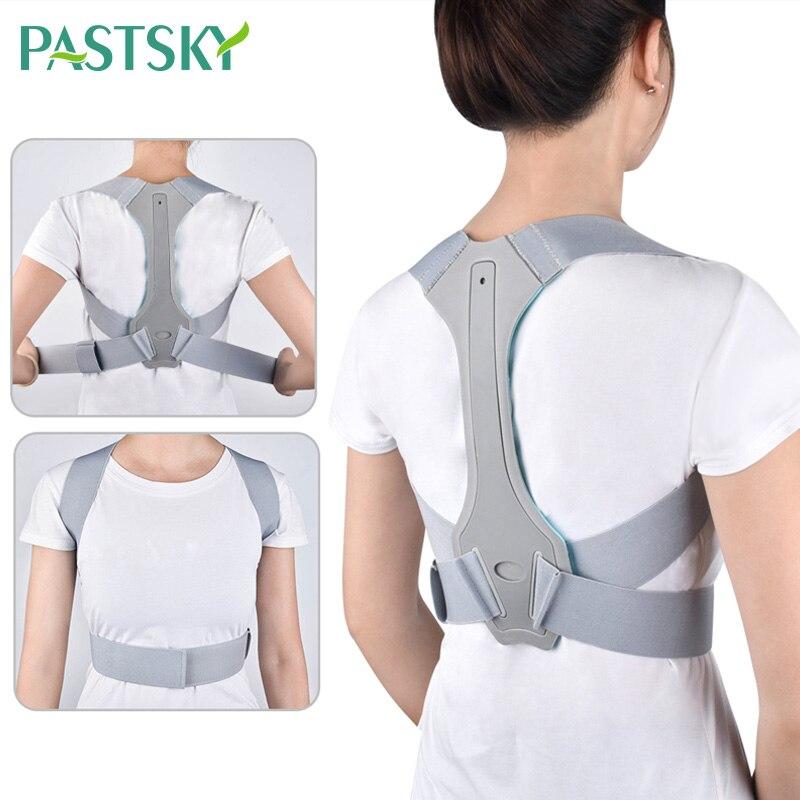 Corrector de postura ajustable para hombre y mujer, corsé con soporte de espalda, correa de espalda, soporte Lumbar, Corrector recto de espalda