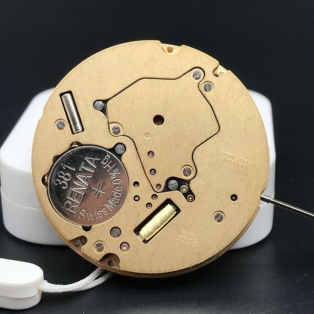 Swiss Made Ronda 7003.B Quartz Watch Movement Original Watch Parts Movt High Quality Quickset Date With Renata Battery enlarge