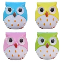 4pcs novelty cartoon animal owl two holes pencil sharpeners school gift prize for kids