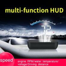 جهاز عرض برأس سيارة GEYIREN C200 OBD HUD مع غطاء للعدسات OBD2 A100S محرك RPM سرعة متر الجهد إنذار لدرجة حرارة الماء