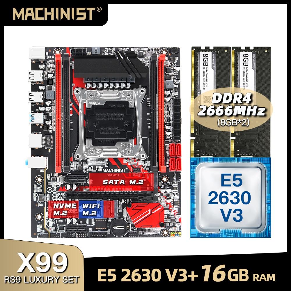 X99 اللوحة LGA 2011-3 مجموعة عدة مع إنتل سيون E5 2630 V3 المعالج DDR4 16 جيجابايت (2*8 جيجابايت) 2666 ميجا هرتز ذاكرة عشوائية M-ATX X99-RS9