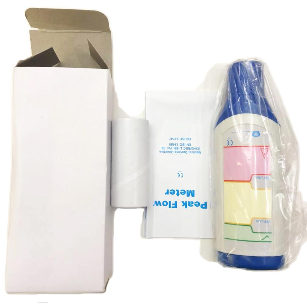 Adult Medical Portable Spirometer Peak Flow Meter Speed Meter Expiratory Flow for Lung Asthma Detector Breath Function Monitor