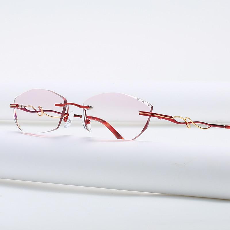 ZIROSAT 58125 Rimless Gold Glasses Frame Women Light Weight Optical Rim Eyeglasses Frames Prescripti