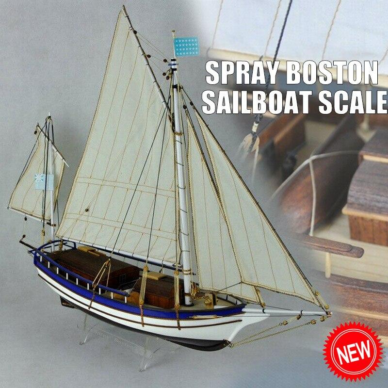 Spray boston veleiro escala 1/30 666 mm modelo de madeira navio kit clássicos barco à vela barco de madeira diy modelo kits