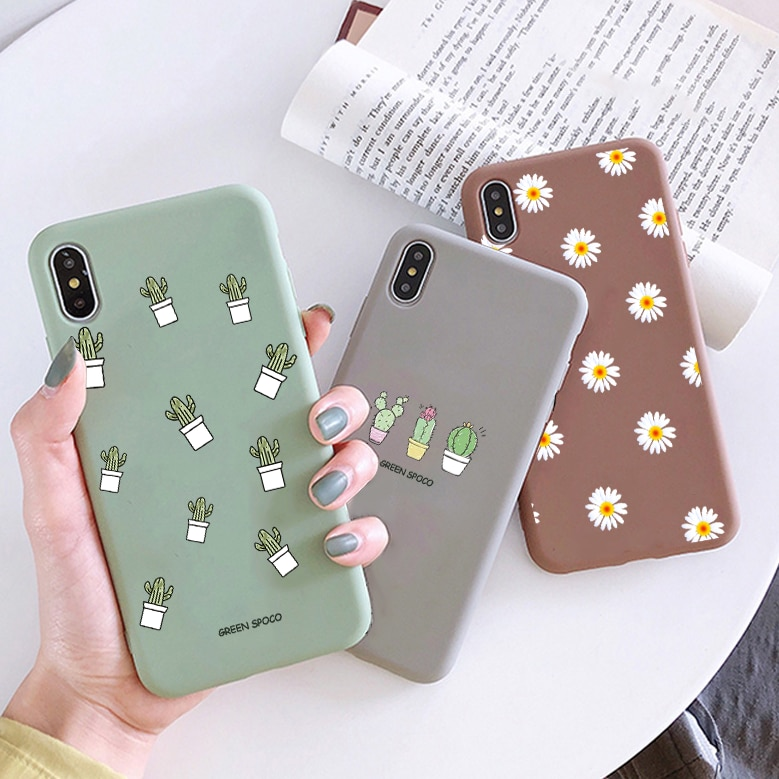 Cartoon Flowers Phone Case For Xiaomi Mi A1 A2 A3 Note 10 Lite 9T 9 Pro For Redmi Note 8T 8 9 4X 5A