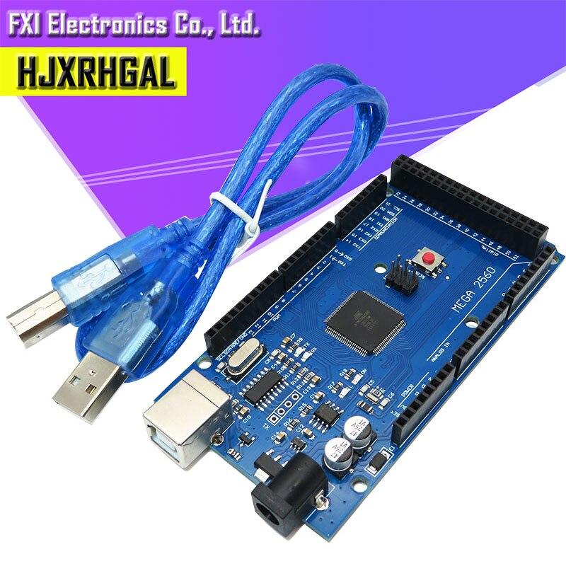 1 Uds MEGA 2560 R3 ATmega2560 AVR USB placa + USB libre cable (ATMEGA2560 /CH340 ) funduino 2560 nuevo