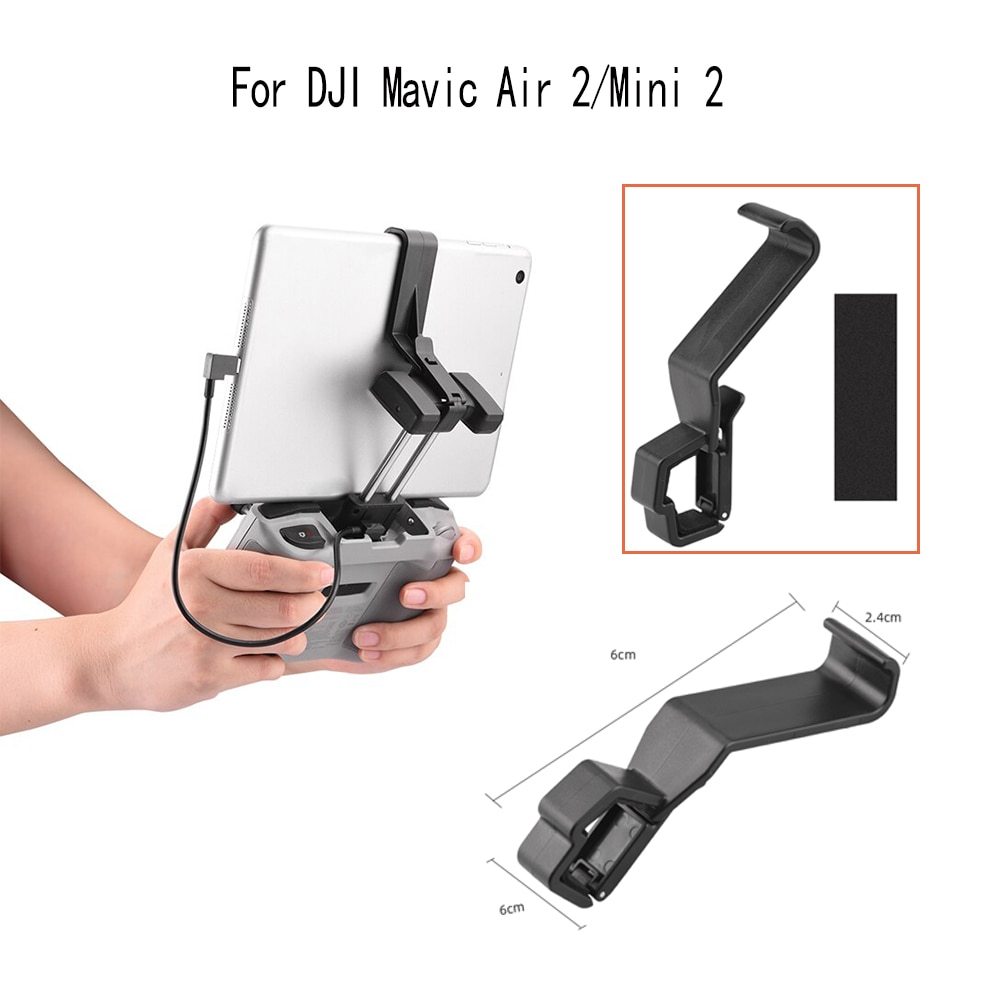 For DJI Mavic Air 2/Mini 2 Drone Remote Control Tablet Stand Holder Adjustable Quick Release Extender Mount Accessories