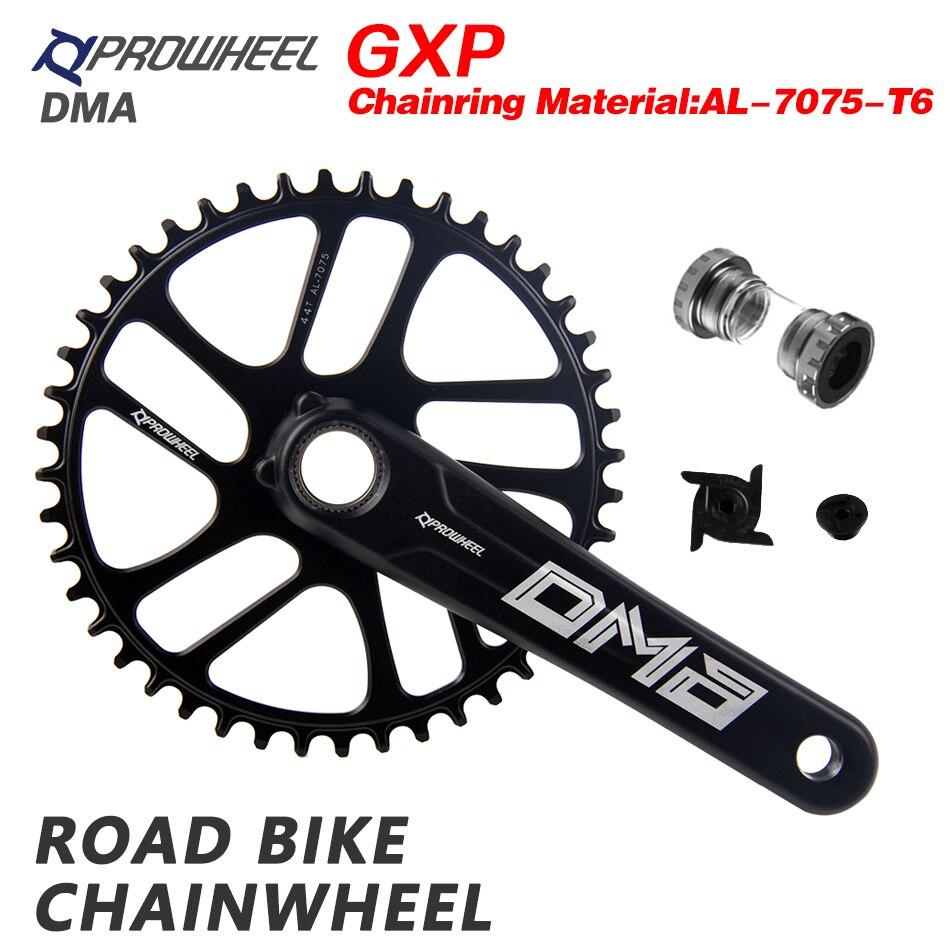 Prowheel road bike manivela 9/10/11/12 velocidade 40/42/44/46/48 / 50 t gxp chainrings suporte inferior bb 170/172.5mm roda de corrente conjunto manivela